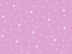 Stoff aus Baumwollmischgewebe mit Sternenmotiv - Zuckerwatterosa