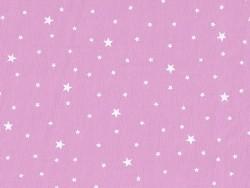 Tissu polycoton étoiles - Guimauve