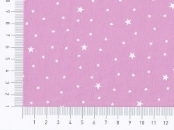 Star-printed cotton blend fabric - Marshmallow pink