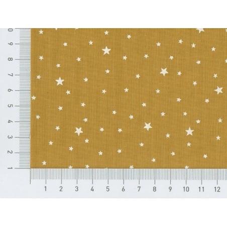 Acheter Tissu polycoton étoiles - jaune moutarde - 1,29€ en ligne sur La Petite Epicerie - Loisirs créatifs