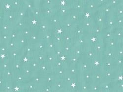 Tissu polycoton étoiles - Menthe glacée Motif Personnel - 1