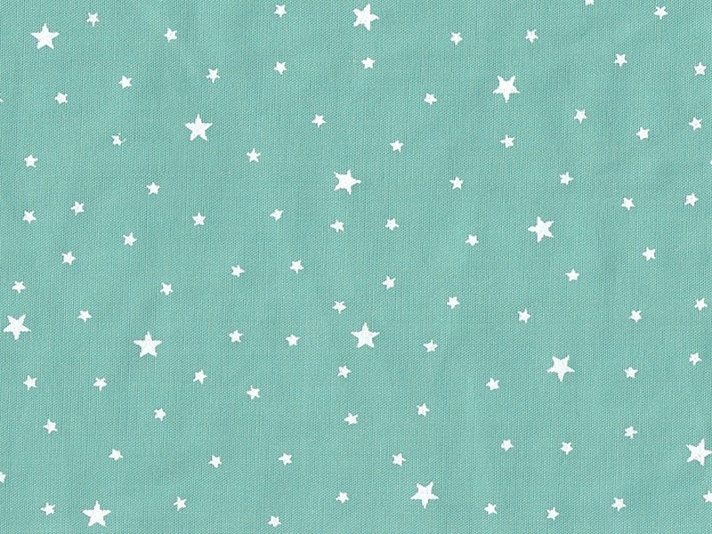 Star-printed cotton blend fabric - Mint