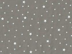 Tissu polycoton étoiles - gris caviar Motif Personnel - 1
