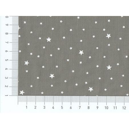Acheter Tissu polycoton étoiles - gris caviar - 1,29€ en ligne sur La Petite Epicerie - 100% Loisirs créatifs