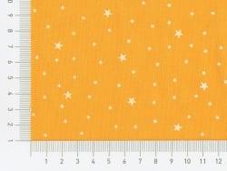 Tissu polycoton étoiles - Mangue