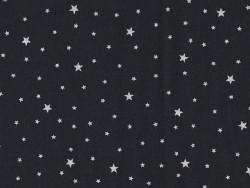 Tissu polycoton étoiles - Réglisse