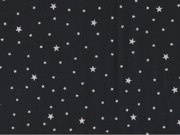 Acheter Tissu polycoton étoiles - noir réglisse - 1,29€ en ligne sur La Petite Epicerie - 100% Loisirs créatifs