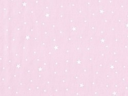 Star-printed cotton blend fabric - Litchi pink