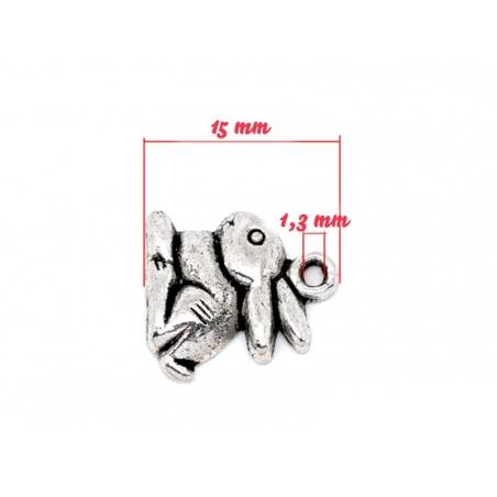 Acheter 1 Breloque petit lapin argenté - 0,59€ en ligne sur La Petite Epicerie - 100% Loisirs créatifs