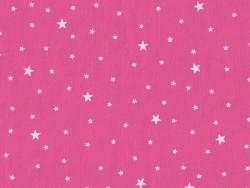 Stoff aus Baumwollmischgewebe mit Sternenmotiv - Nougatrosa