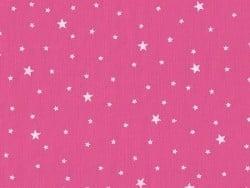 Tissu polycoton étoiles - rose pralin