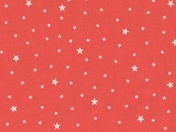 Star-printed cotton blend fabric - Grapefruit