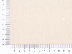 Tissu polycoton étoiles - Meringue