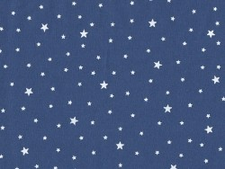 Star-printed cotton blend fabric - Blueberry