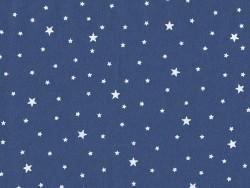 Tissu polycoton étoiles - Blueberry