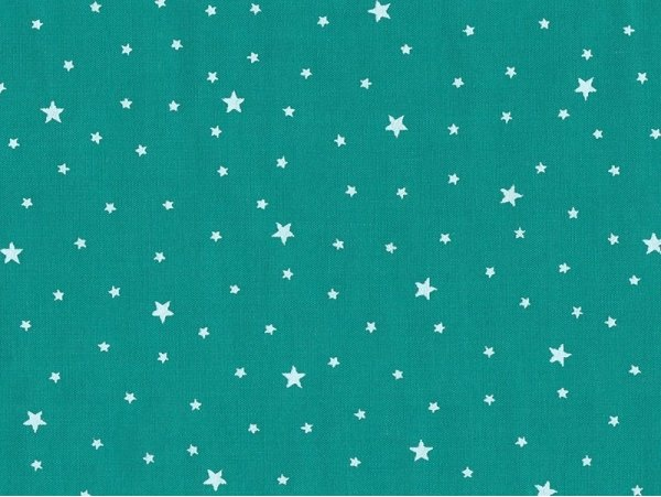 Star-printed cotton blend fabric - Emerald
