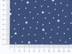 Stoff aus Baumwollmischgewebe mit Sternenmotiv - Blueberry