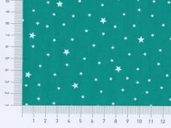 Stoff aus Baumwollmischgewebe mit Sternenmotiv - Smaragd