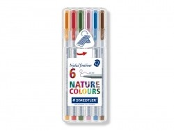 6 Triplus fineliners - Natural colours