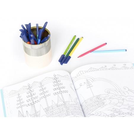 Pen case with 6 felt pens