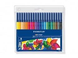 Pen case with 20 felt pens