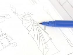 Felt pen - dark blue