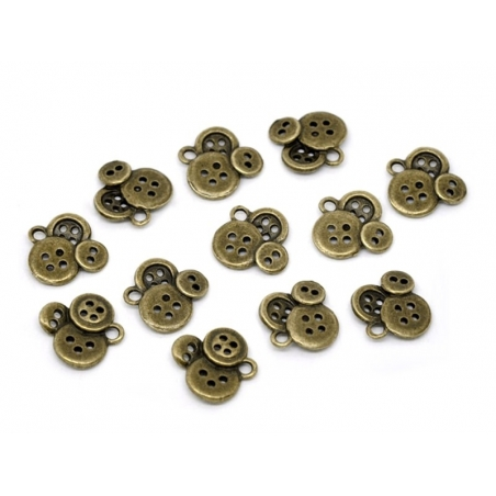 1 small buttons charm