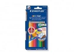 12 coloured pencils