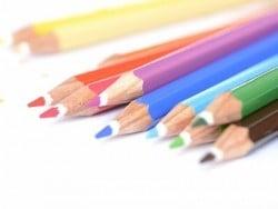 12 wasservermalbare Farbstifte + Pinsel
