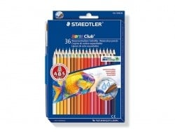 36 watercolour pencils + brush