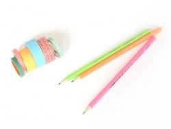 3 pencils (HB) - neon colours