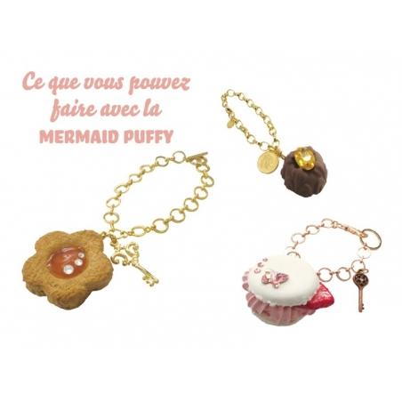 Mermaid Puffy - white