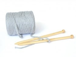Giant Hooked Zpagetti bobbin - Light grey