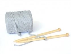 Grande bobine de fil Hooked Zpagetti - Gris clair