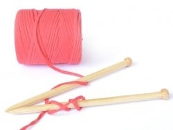 """Große Rolle Textilgarn - """"Hooked Zpagetti"""" - korallenrot"""