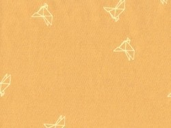 "Mustard-coloured ""Bye bye birdie"" fabric - Atelier Brunette"