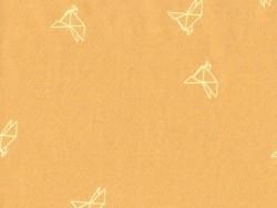 """Senfgelber Stoff - """"Bye Bye Birdie"""" - Atelier Brunette"""