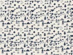 "Stoff - ""Shape blue"" - Atelier Brunette"