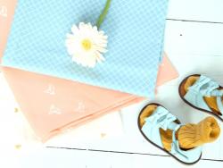 Tissu Ciel  Bleu -  Fifi Mandirac pour Atelier Brunette