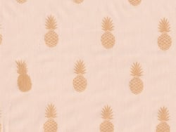 Tissu polycoton a nana's Fabric Aime comme Marie - Nude