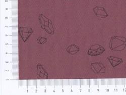 Tissu polycoton Ma rivière de diamants par Aime comme Marie - Lie de Vin