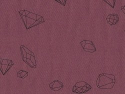 "Cotton blend fabric - ""Ma rivière de diamants"" by Aime comme Marie - Wine red"