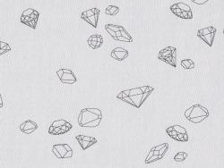 """Stoff aus Baumwollmischgewebe - """"Ma rivière de diamants"""" von Aime comme Marie - Pfefferweiß"""
