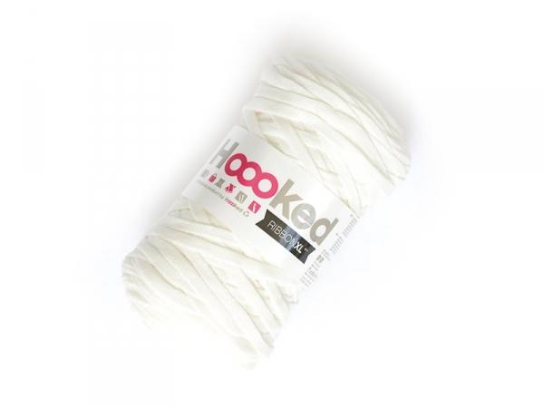 Bobine de fil Hoooked Zpagetti ribbon XL - Blanc Hoooked Zpagetti - 1