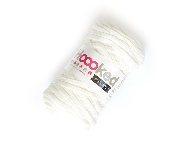 XL Hooked Zpagetti ribbon - White