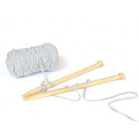 Bobine de fil Hoooked Zpagetti ribbon XL- Gris chiné Hoooked Zpagetti - 2
