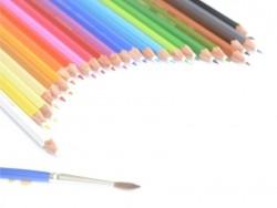 24 Crayons de couleur aquarellables + pinceau