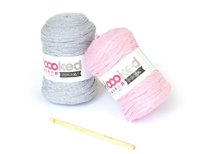XL Ribbon kit - pink and grey elephant