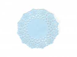 75 mini napperons -  Bleu jean