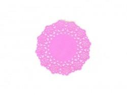 75 small doilies - bubblegum pink